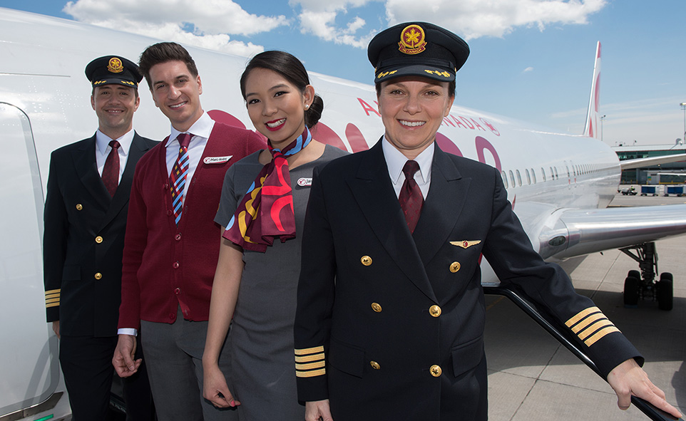 A photo of a Rouge flight crew