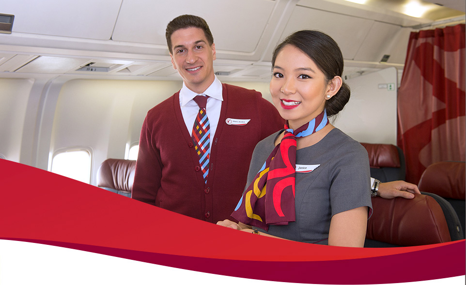 Flight Attendants Smiling